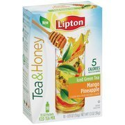 Lipton Beverage Tea & Honey Green Tea to Go Mango Pineapple Iced Tea Mix, 0.13 oz, 10 count(Case of 2) by Lipton 0.13 Ounce Honey
