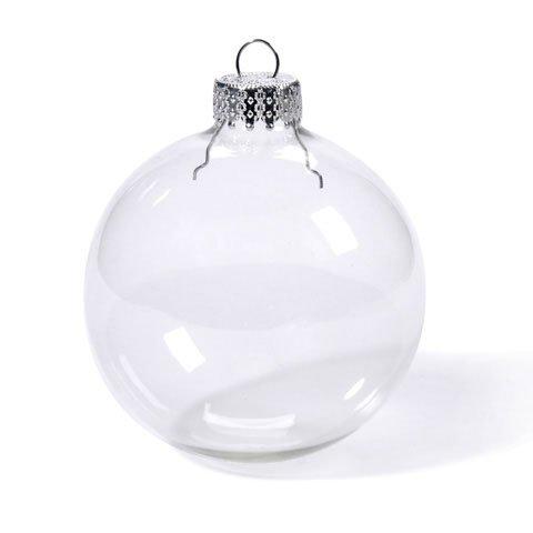 Bulk Buy: Darice DIY Crafts Glass Ornament Clear Heavy Du...