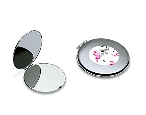 Yingealy Childrens Mirror Mini Butterfly Pattern Round Metal Small Glass Mirrors Circles for Crafts Decoration Cosmetic Accessory by Yingealy (Image #8)