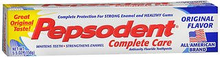 (Pepsodent Complete Care Anticavity Fluoride Toothpaste Original Flavor - 6 oz, Pack of 5)