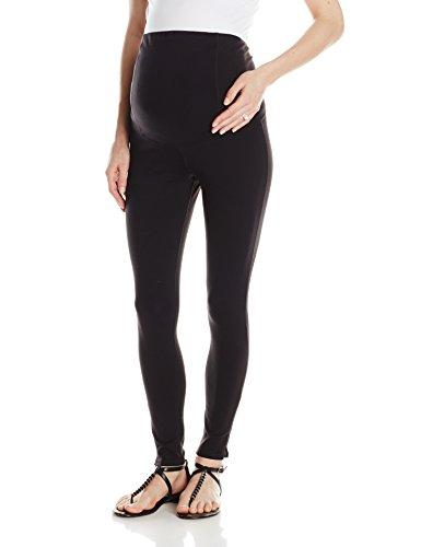 Medium Crossover (Ingrid & Isabel Women's Maternity Active Legging With Crossover Panel, Black, Medium)