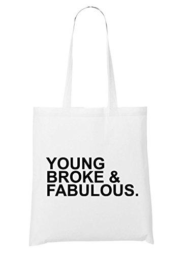 Young Broke & Fabolous Bolsa Blanco