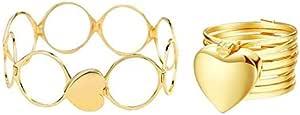 أسوار متحول إلى خاتم يمكن أستخدامه كأسوار او خاتم اللون ذهبي