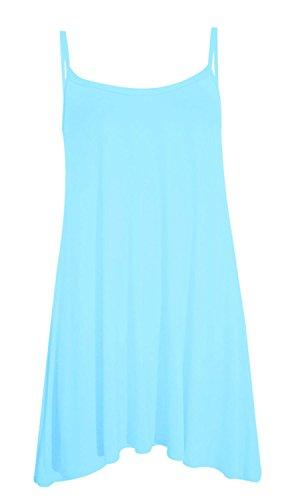 Camiseta sin mangas, vestido de tirantes para mujer, tallas grandes para playa, de verano, tallas desde la 36 a la 50 agua