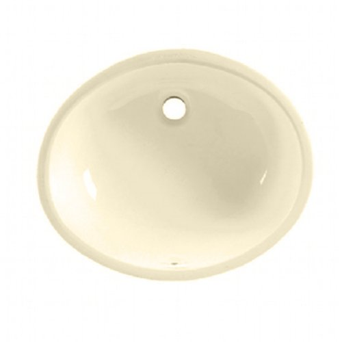 DECOLAV 1402-CBN Callensia Classically Redefined Rectangular Vitreous China Undermount Lavatory Sink with Overflow Bone