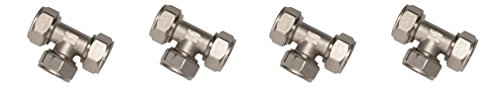 Equal Tee - Maxline M8011 Equal Tee Fitting for 3/4-Inch Tubing (4 PACK)