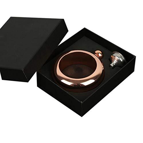 (Cross Border 06 Thick 304 Stainless Steel Bracelet Flask Set 3.5 Oz. Ring Hand Ring Wine Pot Custom)
