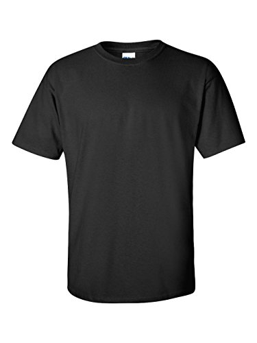 Gildan Men's Ultra Cotton Adult T-Shirt, 2-Pack, Black, Medium by Gildan