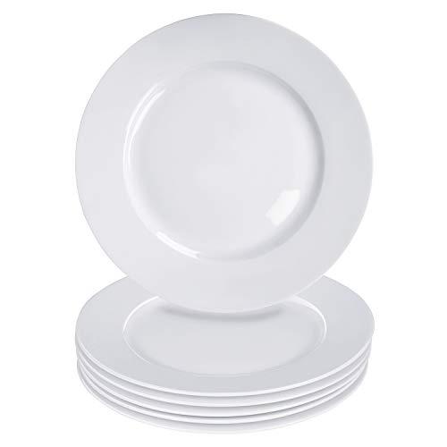 Alt-Gt Porcelain Dinner Plates Set of 6, Bread and Butter Pates, 7.5 inch Pasta Plates Dinnerware Set for Salad/Desser