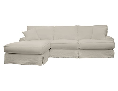 South Cone Home New York Linen Left Sectional Sofa, Sand