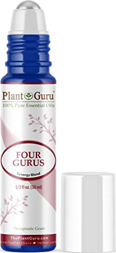Four Gurus Essential Oil Blend Roll On 10 ml 100% Pure Pre-Diluted Therapeutic Grade. Blended with 100% Pure Lemon, Clove, Eucalyptus, Cinnamon and Rosemary