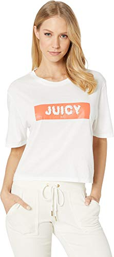 - Juicy Couture Women's Juicy Sequin Tee White Large