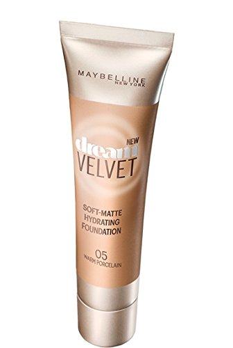 Maybelline Dream Velvet Soft-Matte Hydrating Foundation, Warm Porcelain, 1 fl. oz. (Warm Porcelain)