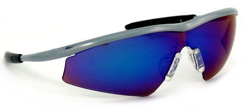 MCR Safety T114G Triwear T1 Hybrid Temple Design Safety Glasses with Steel Frame and Emerald Mirror Lens by MCR Safety