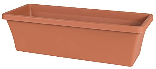 Plastic Window Box - Bloem 52024C Fiskars 24 Inch TerraBox Planter, Color Clay, 24-Inch