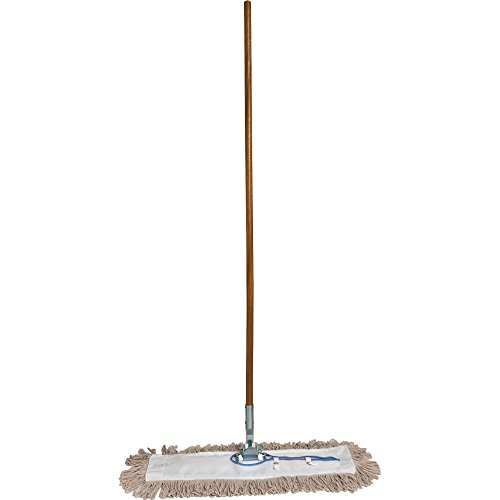 "Genuine Joe GJO54101 Lightweight Dust Mop with Handle, 24"" W"