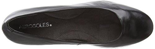 Scarpa Aerosoles nero Caldo Rosso Nera Tacco Delle Donne Alto wrIr7xfq