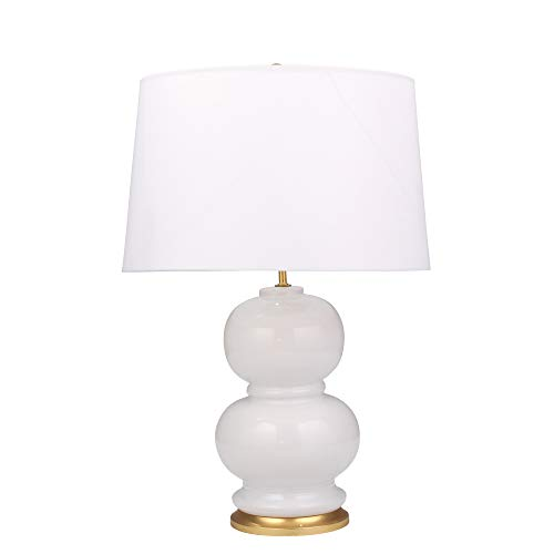 Double Gourd Lamp - Sagebrook Home 50096-01 Ceramic Double Gourd Table, White, 28