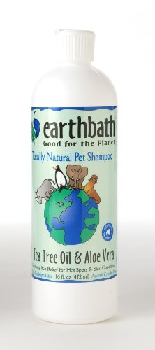 EarthBath Hot Spot Relief Shampoo Tea Tree Oil & Aloe Vera 16 fl. Oz.