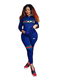 SportsX Women's Long Pants Graphic Print Long-Sleeve Printed Jogger Activewear Set