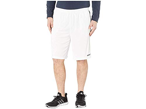 adidas Men's Design 2 Move Climacool 3-Stripes Training Shorts, White/Black, 2XLT by adidas