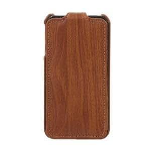Wood Grain PU Leather iPhone 4 Case