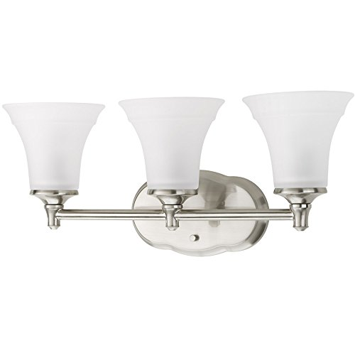 Delta 3-Light Lorain Brushed Nickel Bathroom Vanity Light