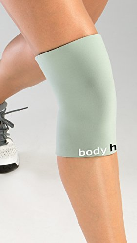 body helix Knee Compression Sleeve - Full Knee Helix Support Sleeves (Silver, Medium: 12