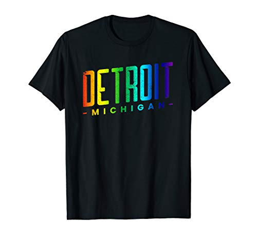 Detroit Michigan USA Motorcity Motown Downtown  T-Shirt