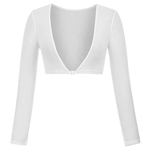 Seamless Per Size Sheer Braccio Entrambi Plus Le Lati Camicia Shaper Liquidazione Donne Aggiornamento Top Bianco Camicette Di Indossare Hulky Cime Vendita I Mesh wfqxOfR