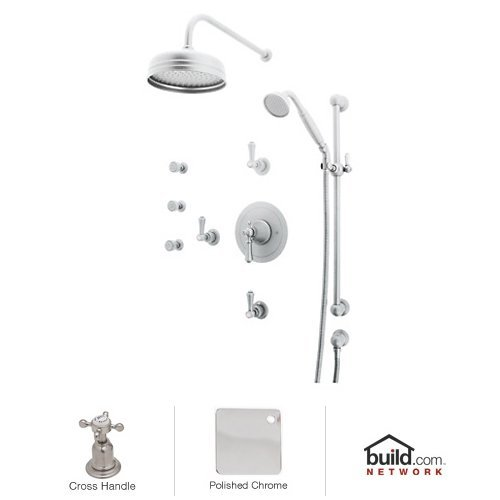 Rohl U.KIT67X-APC Georgian Era Shower System with Thermostatic Valve Trim and Shower Head, Polished Chrome ()