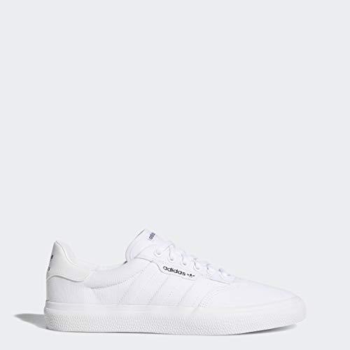 adidas Originals 3MC Sneaker, White/White/Gold Metallic, 8 M US