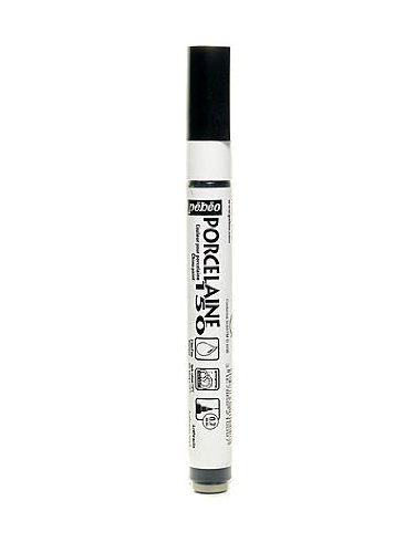 (Pebeo Porcelaine 150 Markers anthracite black fine [PACK OF 3 ])