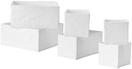 IKEA SKUBB Set 6 Cajas Organizador de Cajones blanco: Amazon.es: Hogar