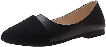 Women Splice Color Flats Fashion Pointed Toe Ballerina Ballet Flat Slip On Shoes