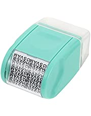 NUOBESTY Guard Your ID Roller Identity Security Stamp Roller Wide Roller Identity Theft Prevention Security Stamp (Red)