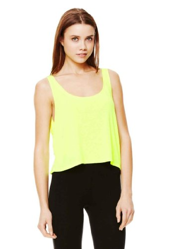 Wholesale Bella (8880 Bella + Canvas Women's Flowy Boxy Tank - Neon Yellow - Small)