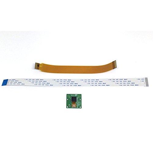 5MP Camera Module Board Webcam Support Video Record Development Board, Cables For Raspberry Pi A/B/B+/2/3/Zero(orange+green)