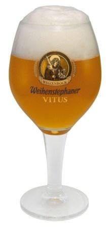 Weihenstephaner Vitus German Beer Glass 0.5L - Set of 2 (1/2 Liter German Beer)