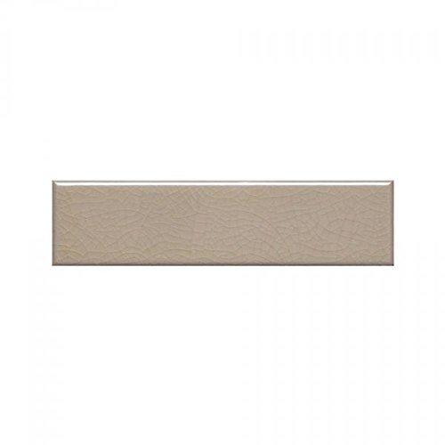- Beige Crackle 2x8 Subway Tile Backsplash, Kitchen, Walls, Countertop, Bathroom, Herringbone (Sample)