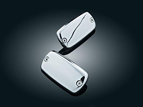 (Kuryakyn 7800 Motorcycle Accent Accessory: Master Cylinder Covers, Chrome, 1 Pair)