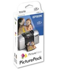 T5570-M EPSON paper picturemate print pack matte 4x6 100 sheet w/one ink cartridge (Epson Picturemate T5570 Ink)