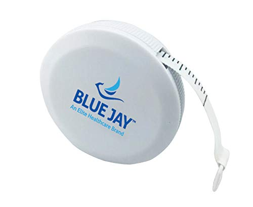Retractable Fiberglass Tape Measure - Blue Jay Measure It Tape Measure, Push Button Retractable 6 ft. Fiber Glass Tape Measure, Accurate Calibration in Inches and Centimeters, Locks Open, Plastic Outer Case