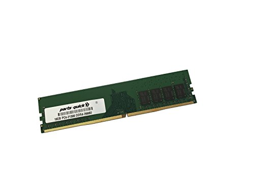 16GB Memory for MSI Motherboard Z370M MOTAR DDR4 PC4-21300 2666MHz Non-ECC Unbuffered DIMM RAM (PARTS-QUICK Brand) -  16GB-DDR4-2666-D-MSI-3511