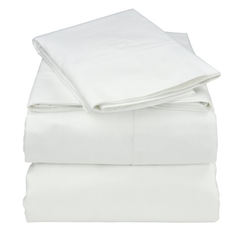 (Cotton/Rayon Bamboo Sheets Set - CalKing- White)