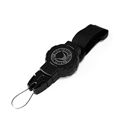 Boomerang Small Scuba Gear Retractor with Hook & Loop Strap and 24 Retractable Cord, 4oz. Retraction, Great for Gauges, Flashlights, Cameras and More