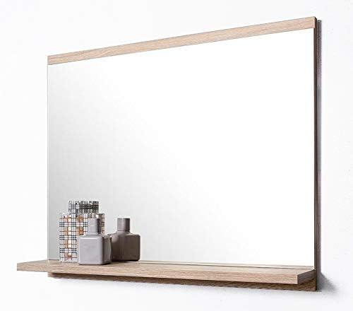 Badezimmerspiegel Ablage.Domtech Badspiegel Mit Ablage Eiche Sonoma Badezimmer Spiegel Wandspiegel Badezimmerspiegel Amazon De Kuche Haushalt