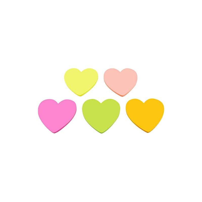 4A Shapes Sticky Notes,Heart Shape,3 x 3