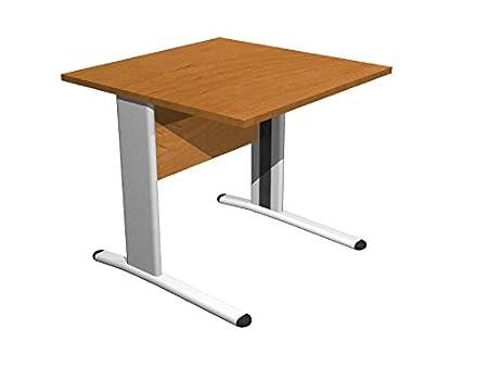 Ideapiu Escritorio wengue con Estructura metálica Desk with Panel ...