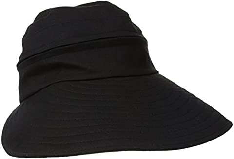 Physician Endorsed Women's Naples Cotton Packable Cap & Visor Sun Hat, Rated UPF 50+ for Max Sun Protection, Black, One - Cotton Tennis Hat